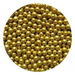 Шарики сахарные золото 7 мм. 50 г. Tortora 1