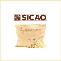 Шоколад белый 28% какао в галетах Barry Callebaut Sicao Раша 2,5 кг. 1