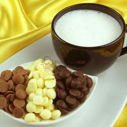 Шоколад белый 25.9% какао в галетах Barry Callebaut 250 г. 2