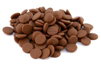 Шоколад молочный 37,8% какао для фонтанов в галетах Barry Callebaut 250 г. 1