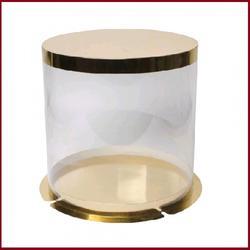 Тубус для торта 25х21 см. Золото 1