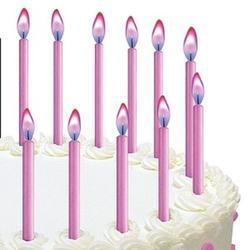Свеча для торта Розовое пламя Wilton, 12 шт., 1