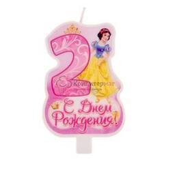 Свеча для торта Цифра 2 Принцессы 1