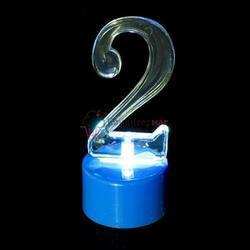 Свеча для торта Цифра 2 светодиодная золото 1