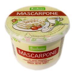 Творожный сыр Маскарпоне 78% 500 г. Bonfesto 1