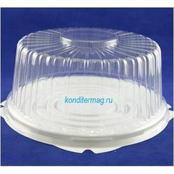 Контейнер для торта прозрачный 1 кг. 20x10 см. 1