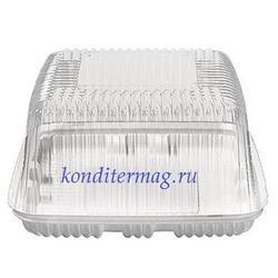 Контейнер для торта прозрачный 2,5 кг. 28x28х11 см. 1