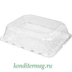 Упаковка для торта на 5 кг. 40х30x14 см. Прямоугольная прозрачная Комус 1