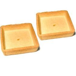 Тарталетка песочная сладкая Квадрат 45х45х18 мм. 6 шт. 1