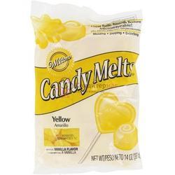 Тающая конфетка Candy Melts Желтая Yellow340 г. Вилтон 1