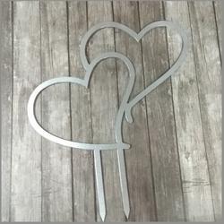 Топпер Сердца 16х13,5 см. пластик 1