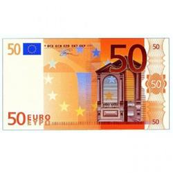 Вафельная картинка Евро (50 €) 1 шт. 1