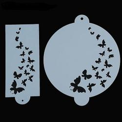 Трафарет кондитерский 23 см. 2 шт. Бабочки 1
