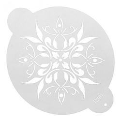 Трафарет Цветочный узор 20 см. 1