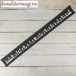 Трафарет кондитерский Капли 79,5х8,5 см. силикон 1