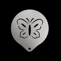 Трафарет кондитерский 8,5 см. Бабочка металл 1