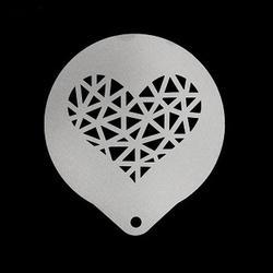 Трафарет Графичное сердце 8,5 см. 1