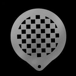 Трафарет кондитерский Шахматы 8,5 см. металл 1