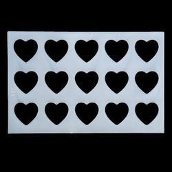 Трафарет Сердце 23х15 см. 1