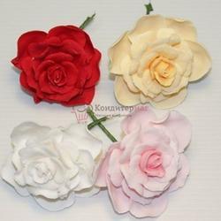 Украшение сахарное Цветок Роза большая 1 шт. 1