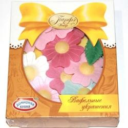 Цветы вафельные Микс 5 см. Парфэ 1