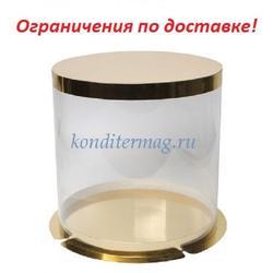 Тубус для торта 30х42 см. Золото 1