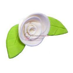 Украшение сахарное Роза белая 5 шт. 1