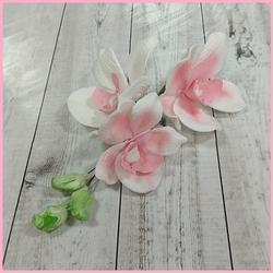Украшение сахарное Букет Орхидея бел/роз. 1