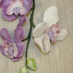 Украшение сахарное Букет Орхидея сиренево-белая 20 см., 1