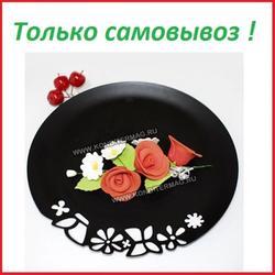 Украшение сахарное Букет Розы Красные 1