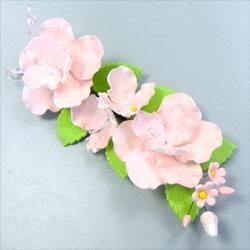 Украшение сахарное Букет шиповник розовый 1