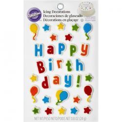Украшение сахарное Детский день рождения 24 г. Вилтон 1