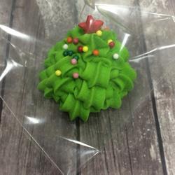 Фигурка сахарная Елка зеленая 3 см. 1