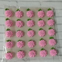 Украшение сахарное Маргаритка 2,5 см. розовая набор 25 шт. 1