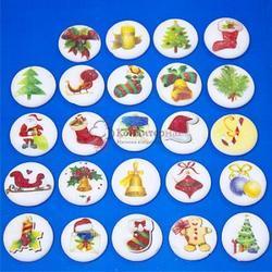 Украшение сахарное Новогодние игрушки 200 шт. 1