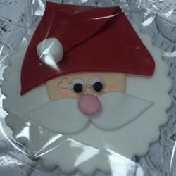 Фигурка сахарная Открытка Дед Мороз плоская 7 см. 1