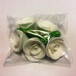 Украшение сахарное Роза кремовая 5 шт. 1
