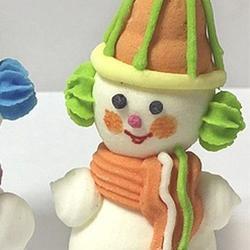 Украшение сахарное Снеговик забавный 1