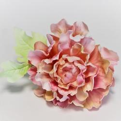Украшение сахарное Цветок Пиона розовый 11 см. 1