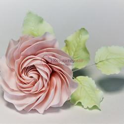 Украшение сахарное Цветок роза витая 7 см. 1
