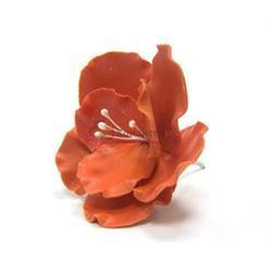 Украшение сахарное Цветок шиповник красный 6 шт. 1