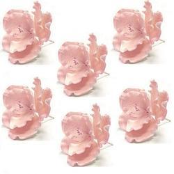 Украшение сахарное Шиповник розовый 6 шт. 1