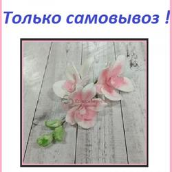 Украшение сахарное Орхидея бел/роз. 1