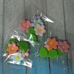 Украшение сахарное Цветочки с листиком 1