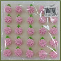 Украшение сахарное Маргаритка 2,5 см. Розовая 25 шт. 1