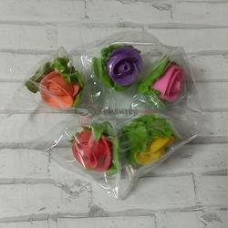 Украшение сахарное Роза в бутоне ассорти 3 см. набор 5 шт. 1