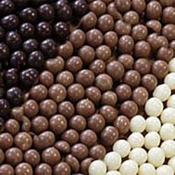 Шарики хрустящие темный шоколад 100 г. Irca 1