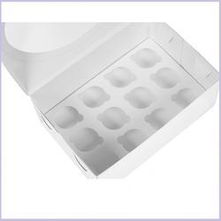Коробка 12 ячеек мини 23,5х16х10 см. Белая/окно 1