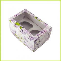 Коробка 2 ячейки 16х10х8 см. Сирень/окно 1