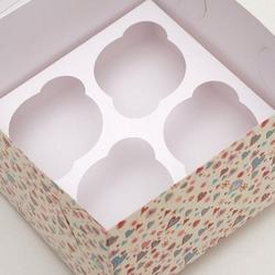 Коробка 4 ячейки 16х16х10 см. Жизнь это любовь окно 2